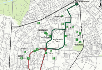 New cycle route in Studentski grad
