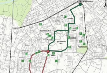 Сycle path in Studentski grad